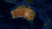 Oceania Map Terrain