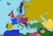 World War I map of europe