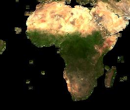 Africa Map Terrain