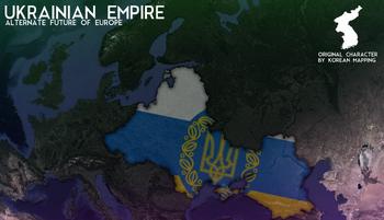 Map of Ukraine in 2107
