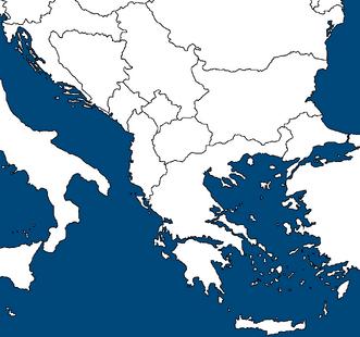 Blank Balkan map