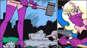 Mysta smashes Moon Maid's gravestone - 10-1-2012
