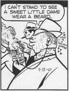 A sweet little dame wears a beard