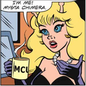 Mysta and her MCU mug
