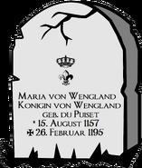 Grabstein Maria von Wengland
