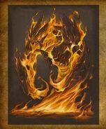 Lesser Elemental Fire art