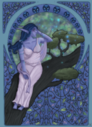 Aerynne auf dem Baum