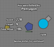 Death Screen Pentagon