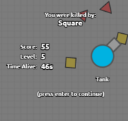 Killed by square