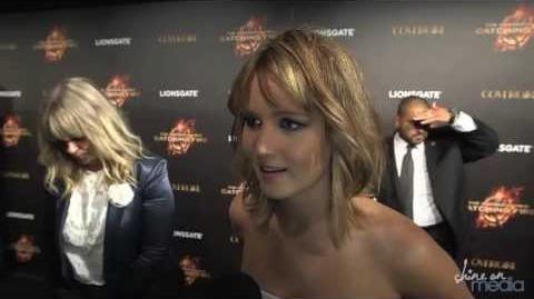 Jennifer Lawrence, Sam Claflin Interviews Catching Fire at Cannes - Liam Hemsworth