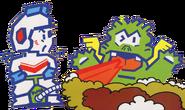 Taizo Hori and Fygar (Dig Dug Famicom Official Artwork)