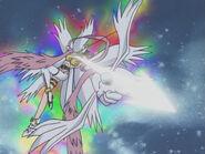 Angewomon uses Holy Arrow