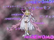Gatomon evolved into Angewomon
