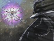 Angewmon destroys LadyDevimon