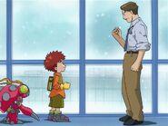Izzy and Tentomon with Hiroaki Ishida