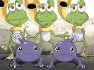 Gekomon and Otamamon speaking their king