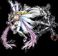 Angewomon vs Ladydevimon Heroes!
