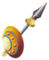 Pawn buckler and spear white