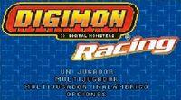 Digimon Racing Pantalla de Inicio