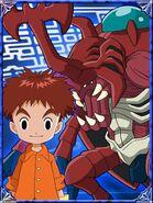 Izzy & AtlurKabuterimon Collectors Digimon Adventure Special Card
