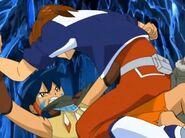 Masaru e Ikuto luchando