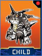 Gabumon (Black) Collectors Child Card