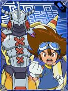 Taichi & WarGreymon Collectors Digimon Adventure Special Card