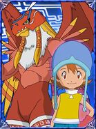 Sora & Garudamon Collectors Digimon Adventure Special Card