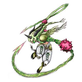 Aegiochusmon Green