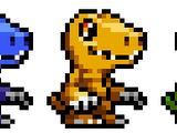 Digimon ricolorati