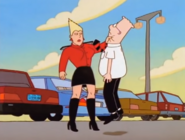 Lena choking Dilbert