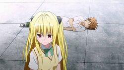 Yami saving sleeping Rito