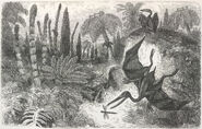 Pterodactyls - The World before the Deluge (1865), plate XVI, opposite 210 - BL