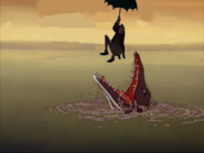 Edgar in bocca al tilosauro by andreone93 ddrxedd