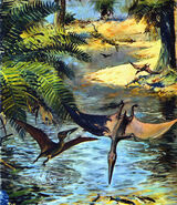 Pterodactylus elegans by zdenek burian 1960