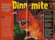 Disney Adventures article dinosaur