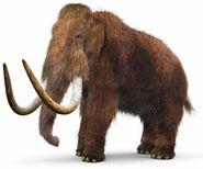 Model of woolly mammoth