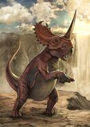 Rearing Centrosaurus