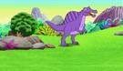 Dora and Diego Spinosaurus