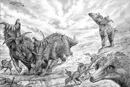 Kosmoceratops talos by paleopastori-d5grp2k