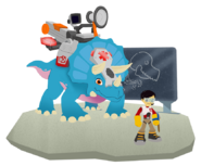 Doc tops the Triceratops