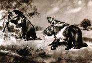 Megatherium by zdenek burian 1941