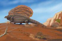 Edaphosaurus y Platyhystrix