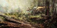 Woodland encounter corythosaurus by craftycreatures-d4r2now