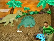 Blue's Clues Prehistoric Blue stegosaurus and allosaurus