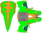 Dino-Riders T-Rex cutout