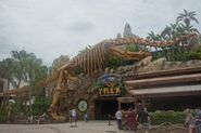 T rex cafe skeleton of the long necked giant by maastrichiangguy ddyb487-fullview