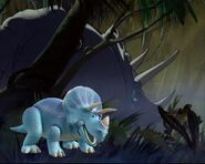 Trixie and the Fantasia triceratops