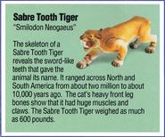 Dino Riders fact card Smilodon