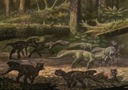 Dilong psittacosaurus by abelov2014-d9fm2i4
